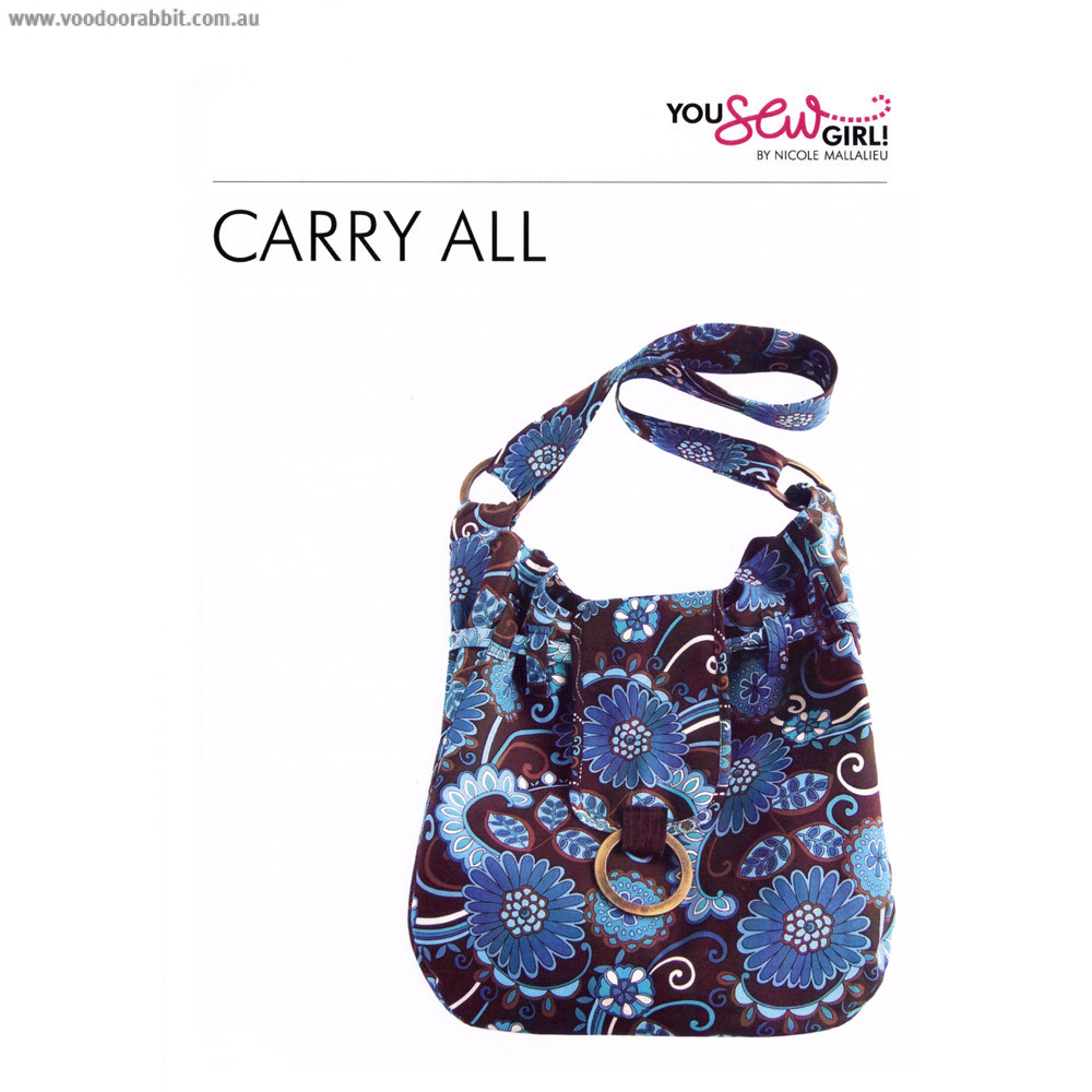 Carry All Bag Pattern By You Sew Girl Alternative Cool