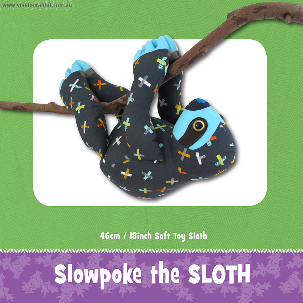 Slowpoke The Sloth Soft Toy Sewing Pattern By Funky