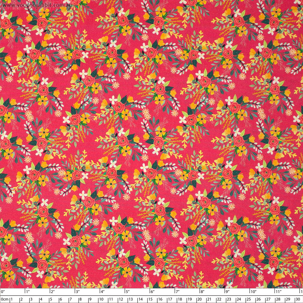 Birdie Amore Raspberry by Blend Fabric