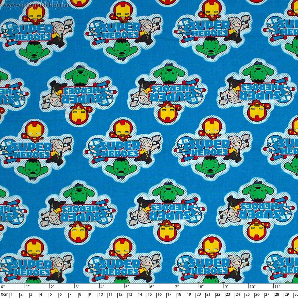 Marvel Kawaii Collection Super Heroes Multi by Camelot Fabrics