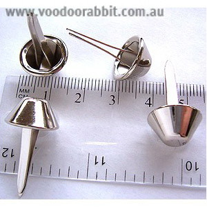 "Voodoo Bag Hardware Large Flat Purse Feet 14mm (5/8"") Silver - 6pk"