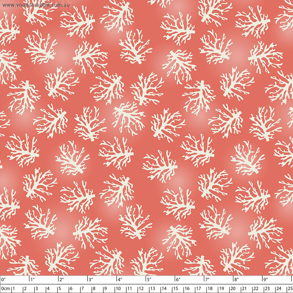 Beach Travel Coral Pink by 3 Wishes Fabric