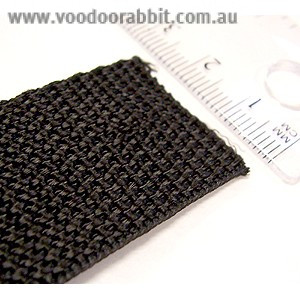"Polypropylene Webbing - 25mm (1"") Black"