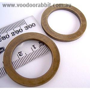 """Voodoo Bag Hardware Flat O-Rings 25mm (1"""") Antique Brass - 4pk"""