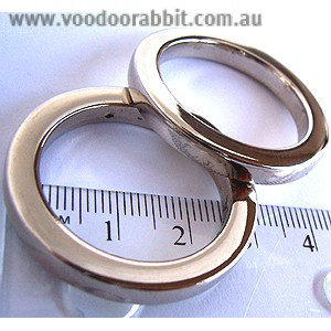 "Voodoo Bag Hardware Flat O-Rings 25mm (1"") Silver - 4pk"
