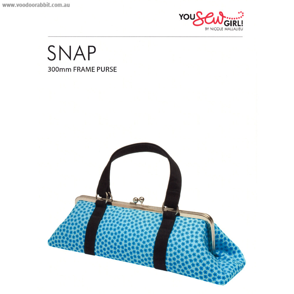 Snap Purse Pattern 300mm by You Sew Girl