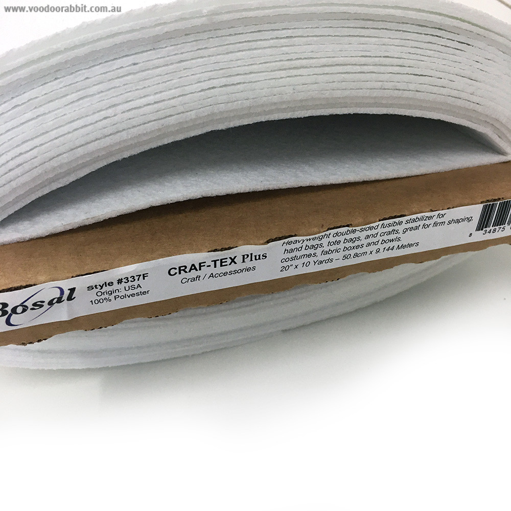 Bosal Craf-tex Plus Double-sided Fusible Ultra Firm Stabiliser #337F (Equivalent to Peltex 72F)