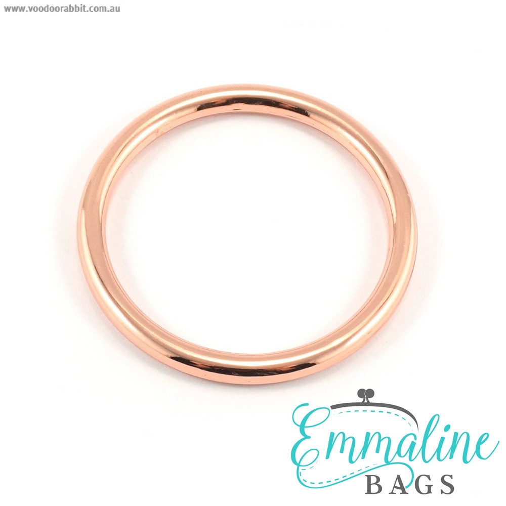 "Emmaline Bags Alloy O-Ring 40mm (1-1/2"") Copper (Rose Gold) - 4pk"