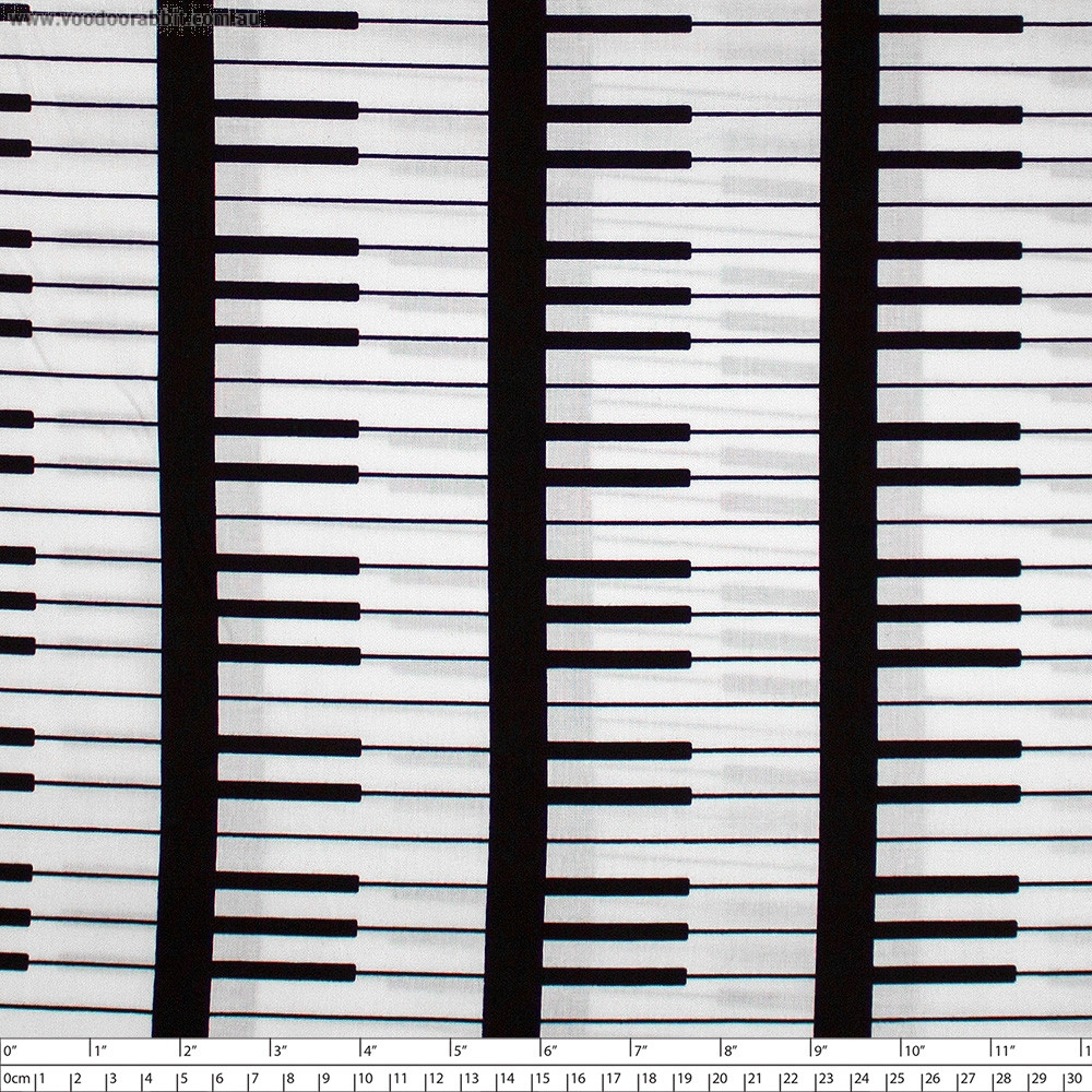 Opus Keyboard White by Windham Fabric