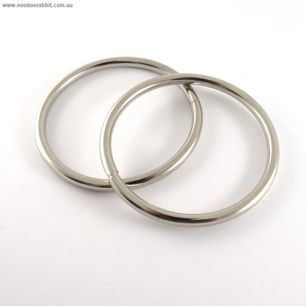 wire o ring 50mm 2 silver 4pk alternative cool. Black Bedroom Furniture Sets. Home Design Ideas