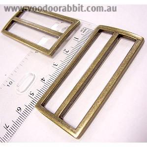 """Voodoo Bag Hardware Tri-Glides (Slide Adjusters) 50mm (2"""") Antique - 2pk"""