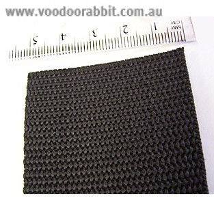 "Polypropylene Webbing - 50mm (2"") Black"