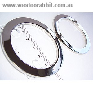 "Voodoo Bag Hardware Flat O-Rings 52mm  (2"") Silver - 2pk"