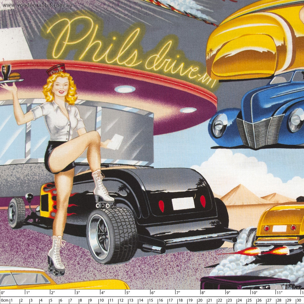 Phil's Drive-in Bright by Alexander Henry Fabrics