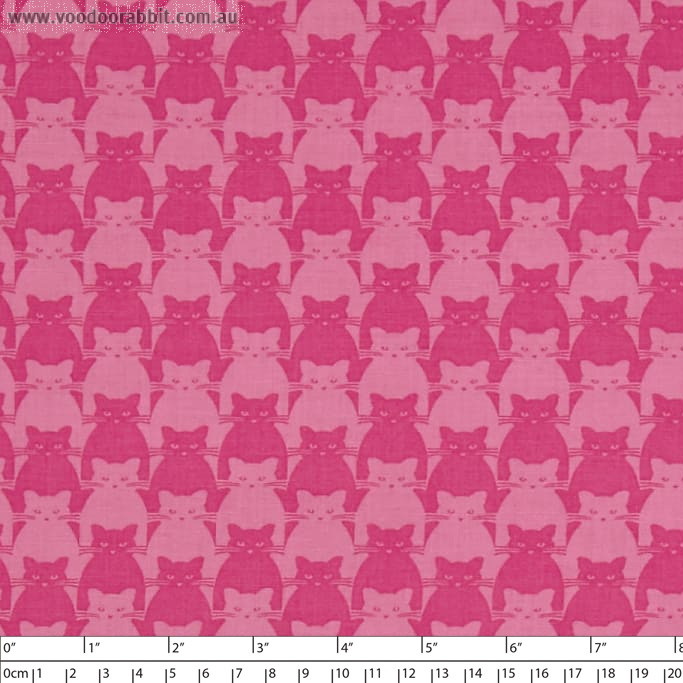 Kitty Kitty Tonal Cat Pink by Blank Quilting
