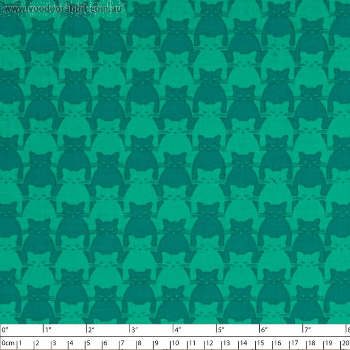 Kitty Kitty Tonal Cat Turquoise by Blank Quilting