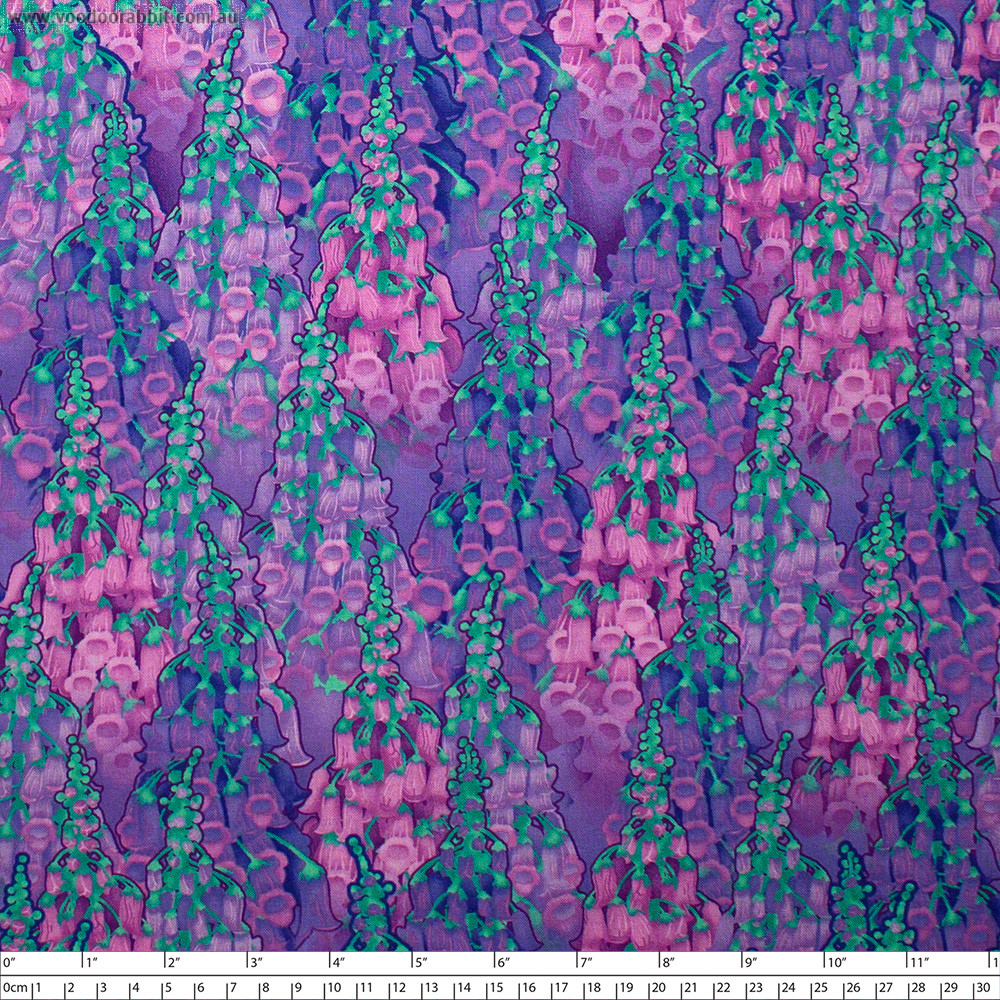 Summer Night Soiree Florals Purple/Pink by Henry Glass Fabrics