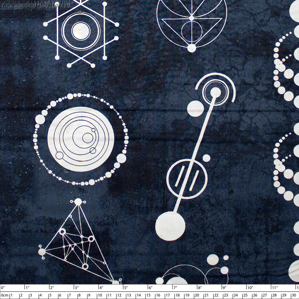Declassified Crop Circles Dusk Blue by Andover Fabric