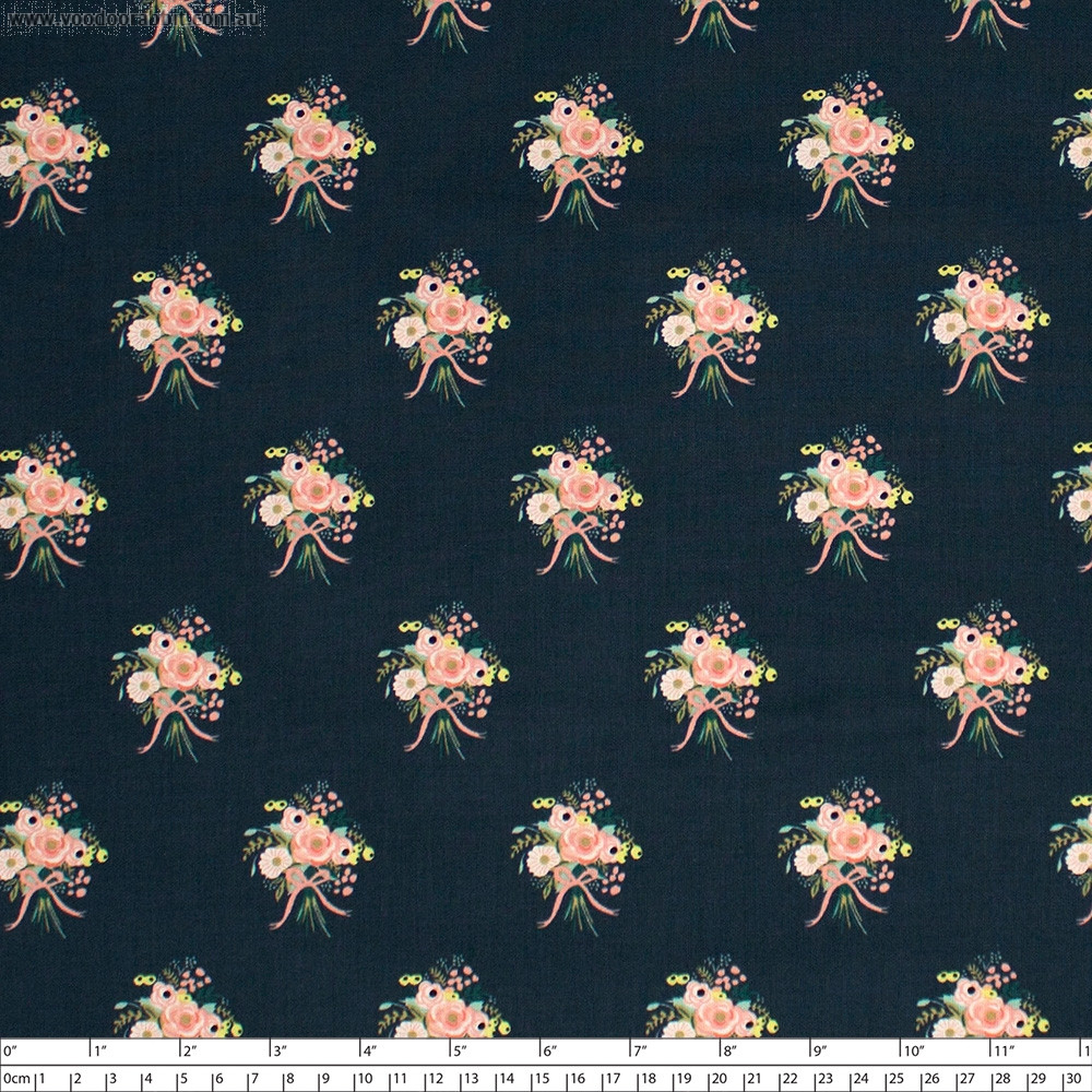 Rifle Paper Co. English Garden Bouquets Navy by Cotton & Steel