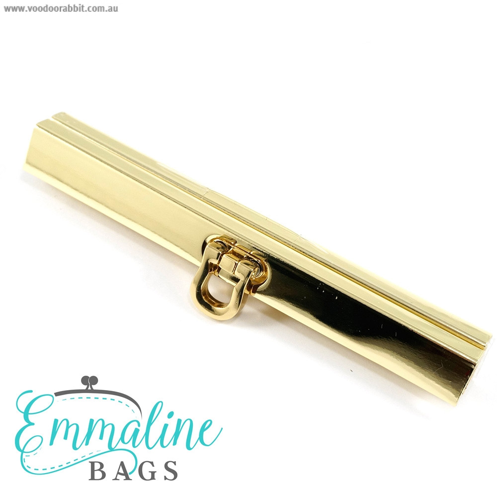 "Emmaline Bags Bar Channel Wallet Closure with Flip Clasp 11cm (4-1/2"") Gold"