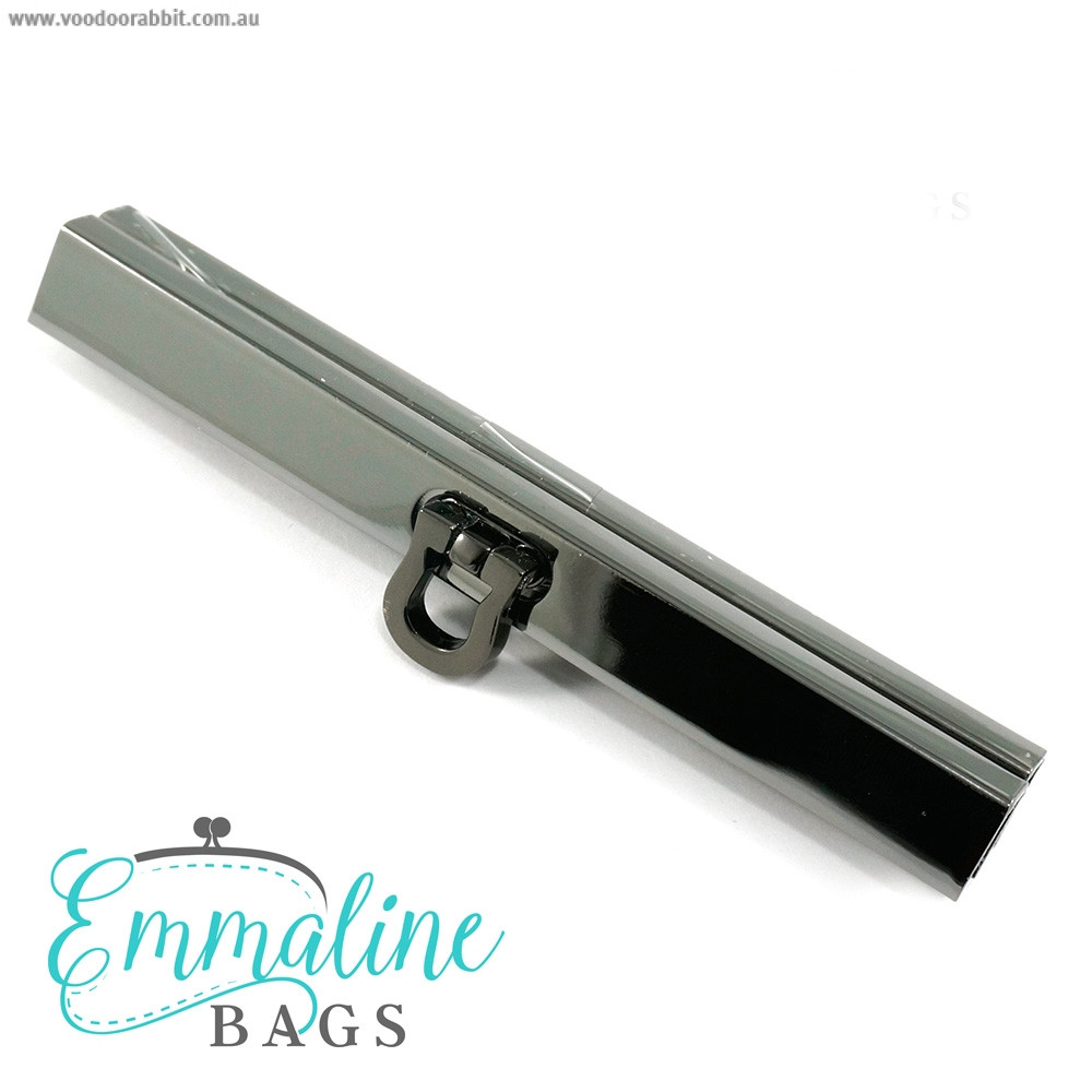 "Emmaline Bags Bar Channel Wallet Closure with Flip Clasp 11cm (4-1/2"") Gunmetal"