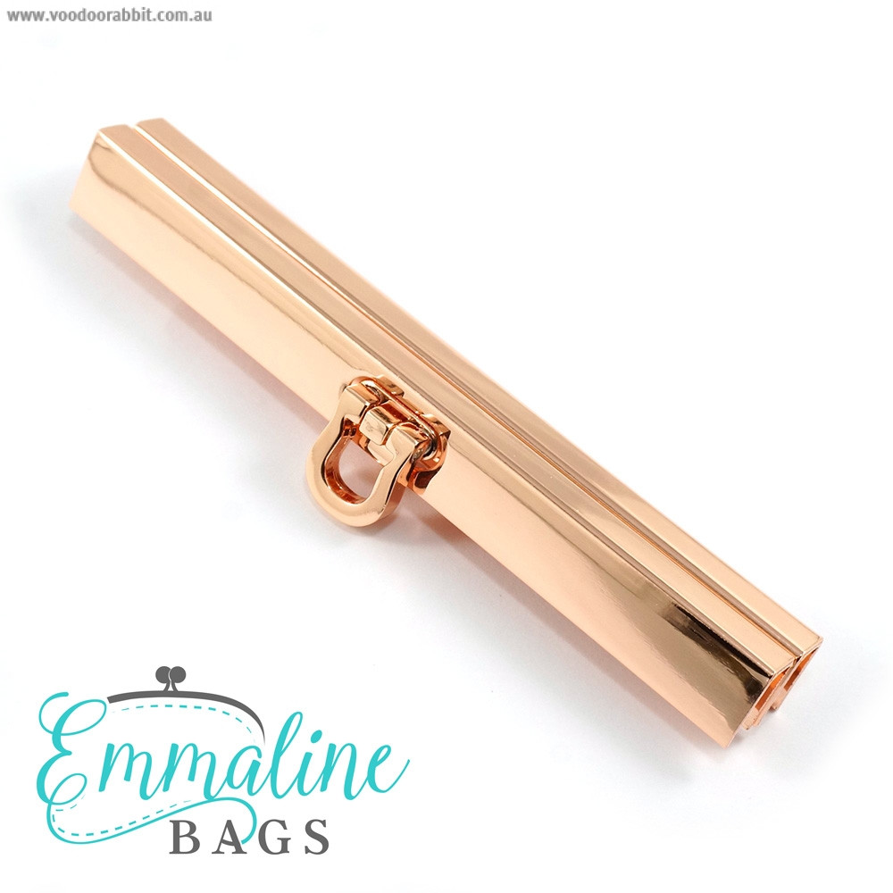"Emmaline Bags Bar Channel Wallet Closure with Flip Clasp 11cm (4-1/2"") Copper (Rose Gold)"