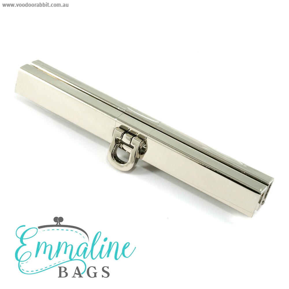 "Emmaline Bags Bar Channel Wallet Closure with Flip Clasp 11cm (4-1/2"") Silver"