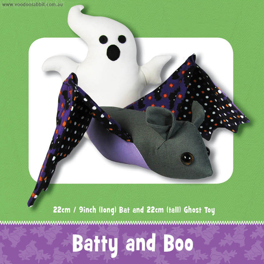 Batty and Boo Soft Toy Pattern by Funky Friends Factory