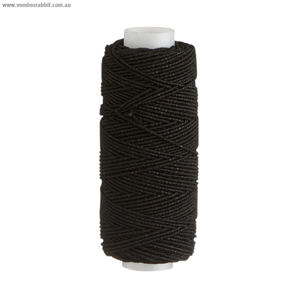 Birch Creative Shirring Elastic Black x 30m