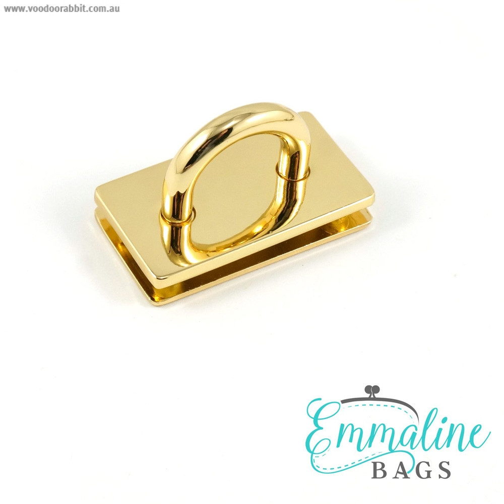 "Emmaline Bags Bridge Strap Connector 35mm (1-3/8"") wide Gold"