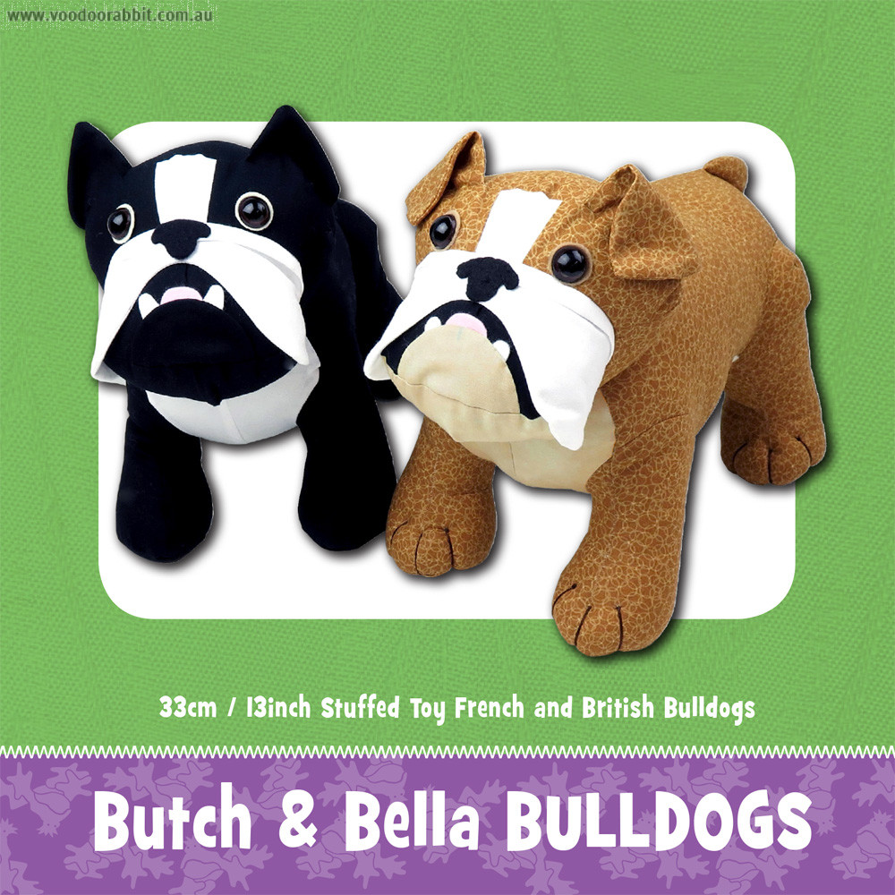 Butch and Bella Bulldog Soft Toy Sewing Pattern | Alternative cool ...
