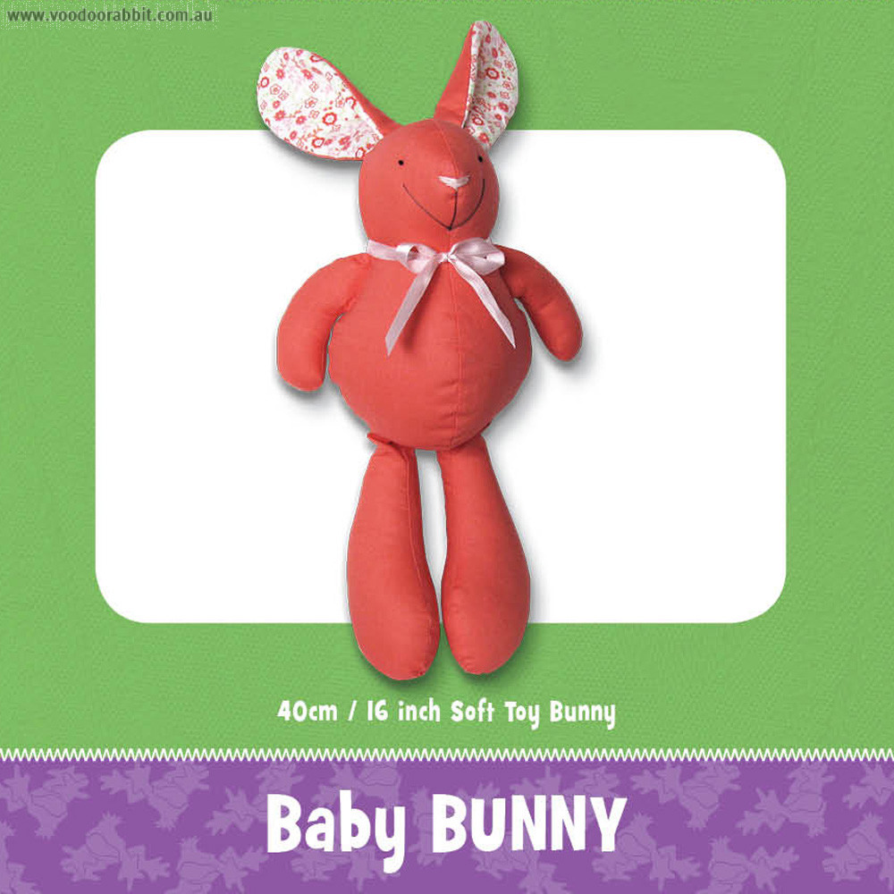Baby Bunny Soft Toy Pattern by Funky Friends Factory