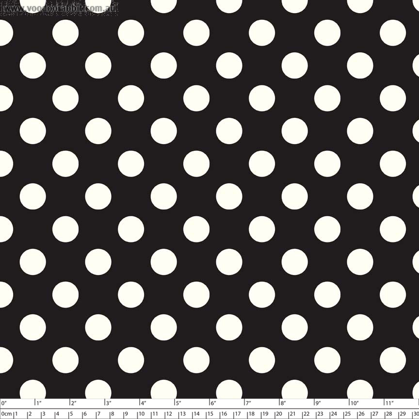 Le Creme Medium Dot Black by Riley Blake Designs