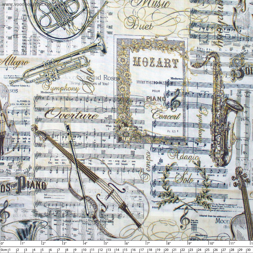 Musical Patchwork Antique by Timeless Treasures
