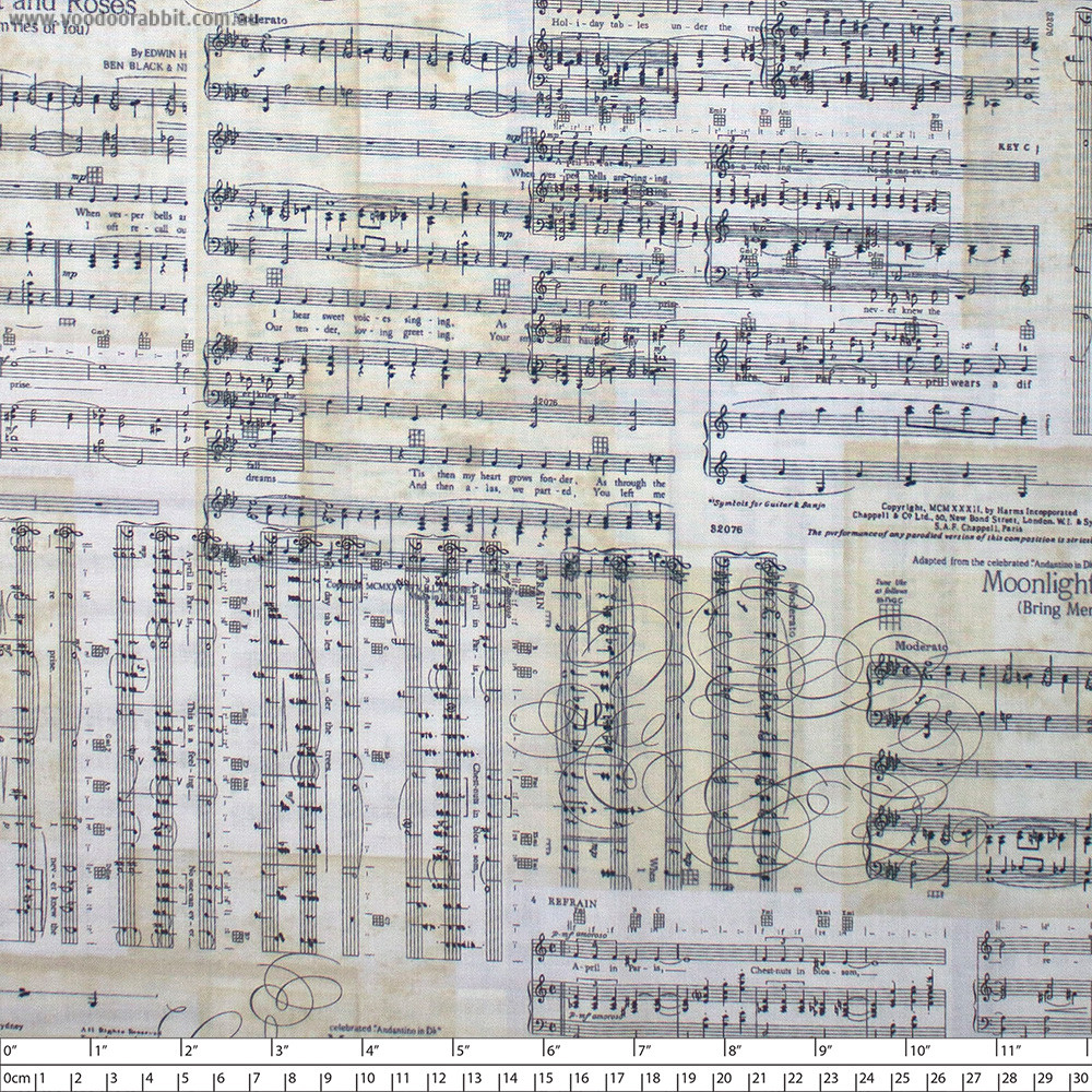 Sheet Music Antique by Timeless Treasures