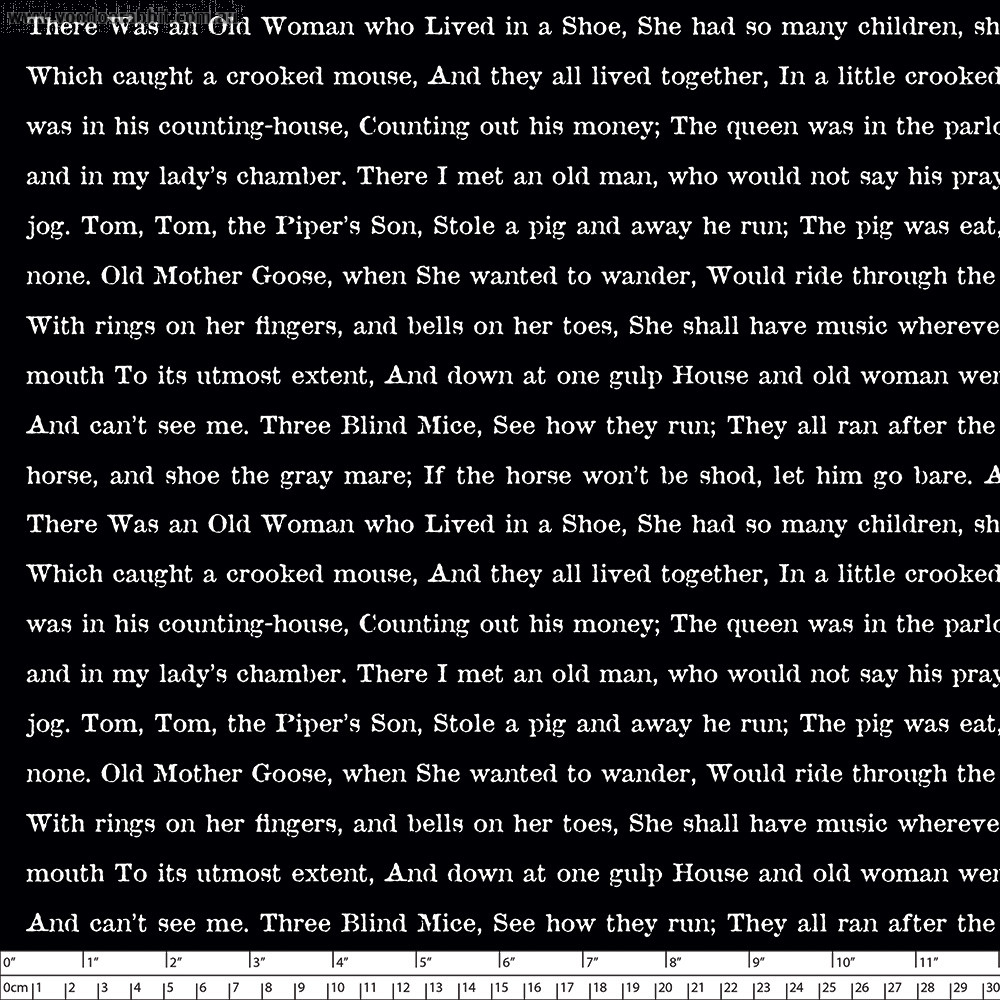 Goose Tales Text Black by Riley Blake Designs