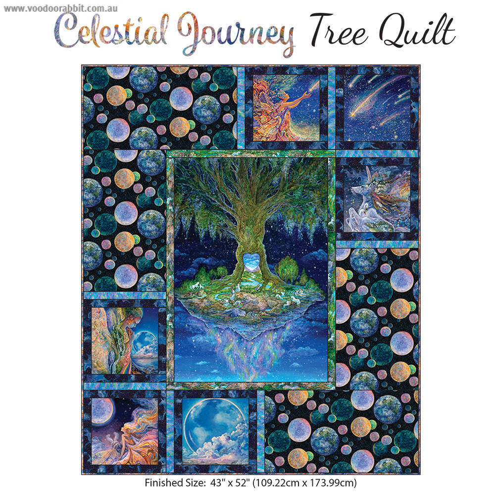 3 Wishes Fabric Celestial Journey Tree Quilt Kit