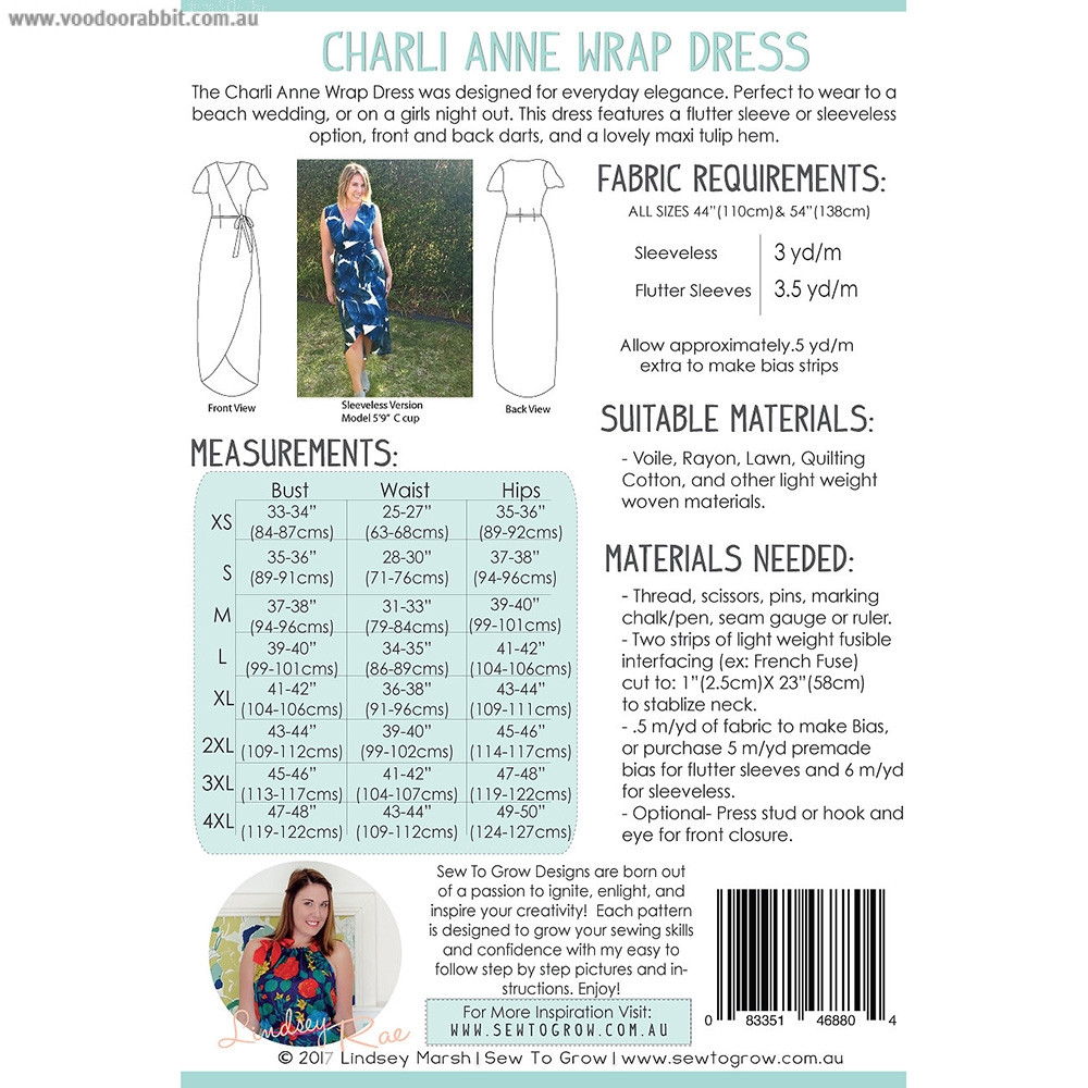 Charli Anne Wrap Dress Sewing Pattern by Sew To Grow