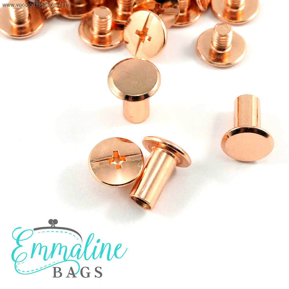 """Emmaline Bags Chicago Screws Large 10mm x 10mm (3/8"""" x 3/8"""") in Copper - 50pk"""