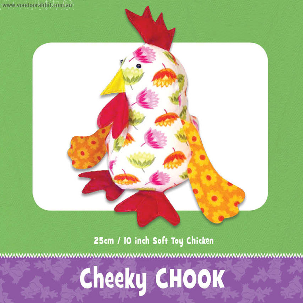 Cheeky Chook Soft Toy Pattern by Funky Friends Factory