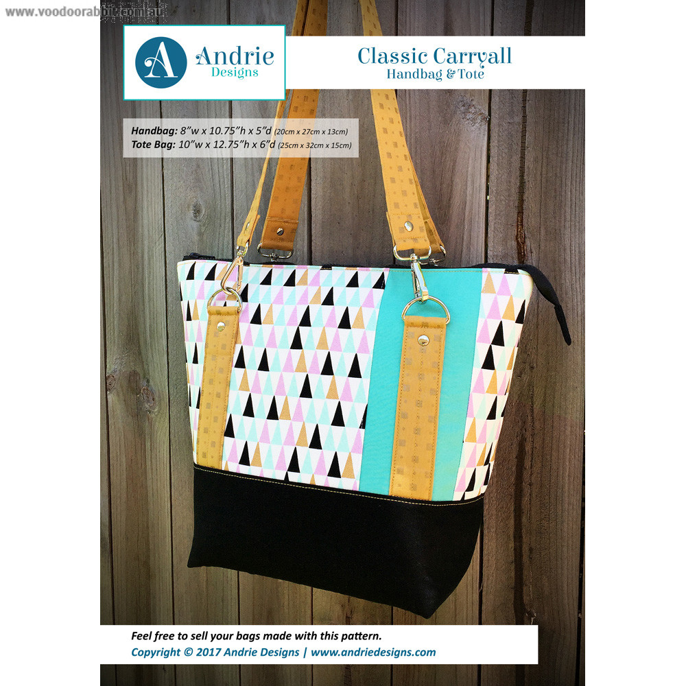 Classic Carryall Handbag & Tote Sewing Pattern by Andrie Designs