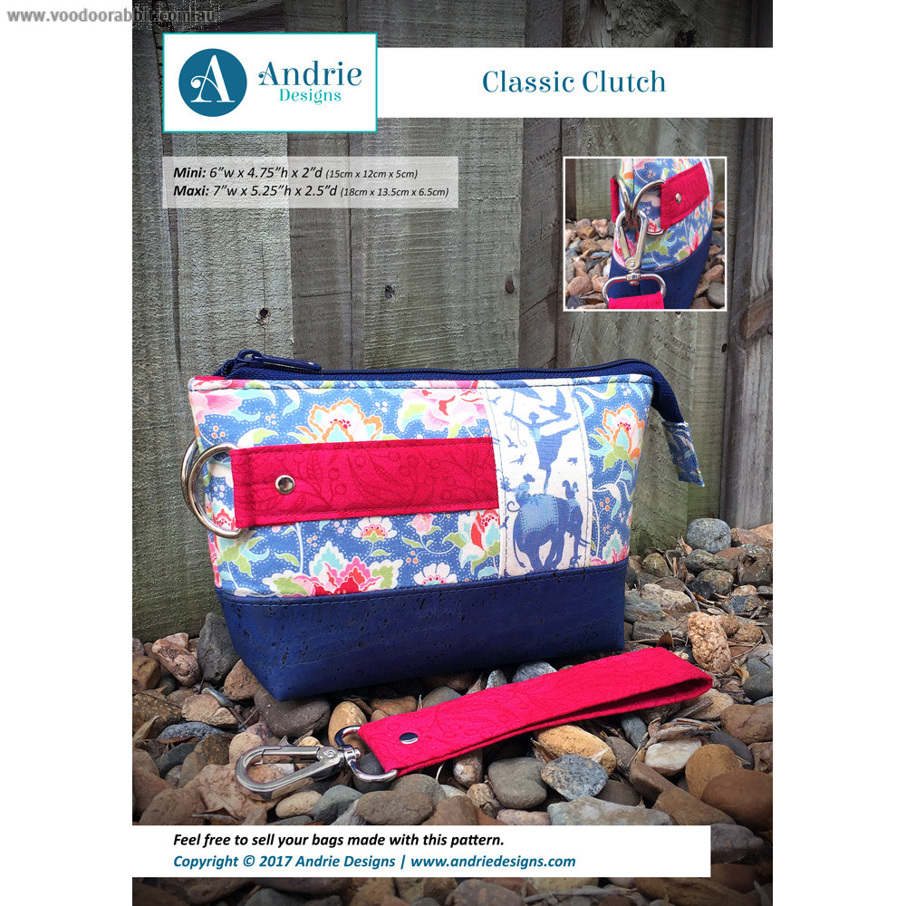 Classic clutch sewing pattern by andrie designs formally two classic clutch sewing pattern by andrie designs formally two pretty poppets alternative cool funky online fabric shop bag hardware sewing patterns jeuxipadfo Gallery