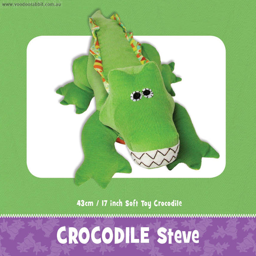 Steve The Croc Soft Toy Sewing Pattern Alternative Cool Funky