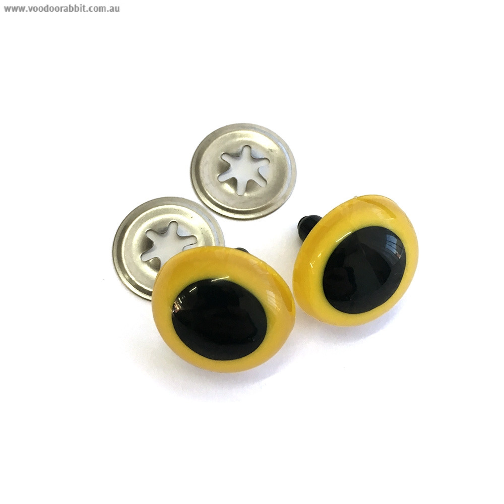 Toy Eyes Crystal - 21mm Yellow - 10pk (5 pairs)