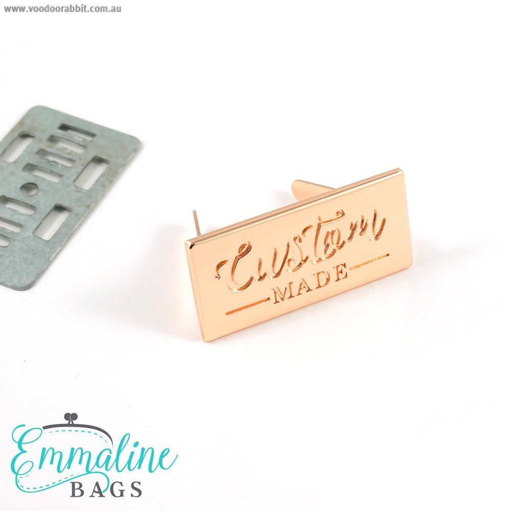 Emmaline Bags Metal Bag Label - Custom Made Copper