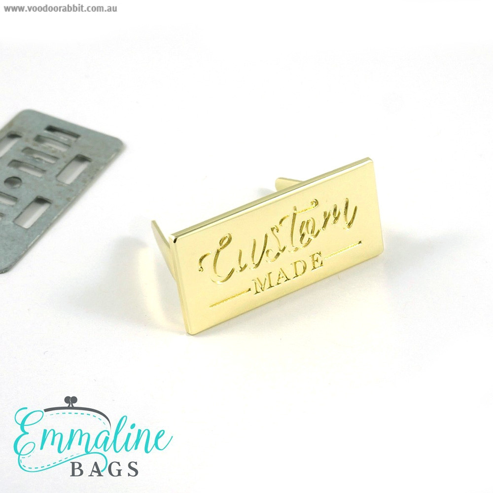 Emmaline Bags Metal Bag Label - Custom Made Gold