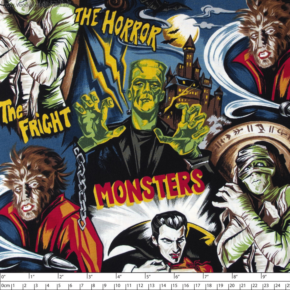 Monster Mash Dirty Midnight by Timeless Treasures