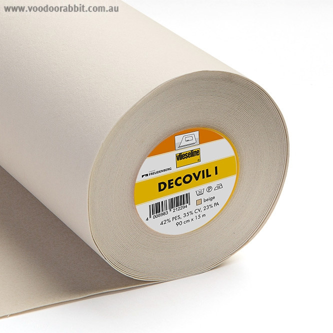 Vilene Decovil 1 HEAVY WEIGHT Beige Non-woven Fusible Interfacing