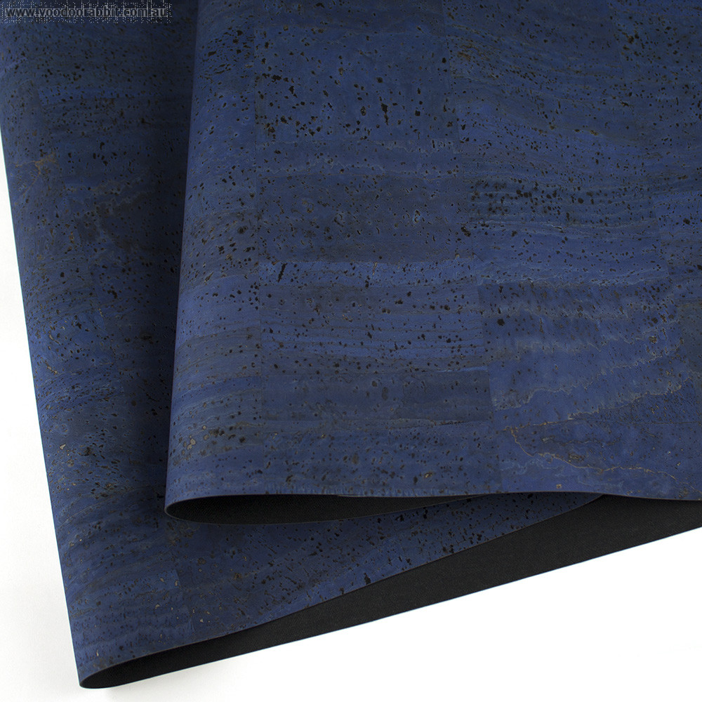 "PRE-ORDER Portuguese Surface Cork Denim Blue - Sizing from 70cm x 50cm (27-1/2"" x 19-1/2"")"