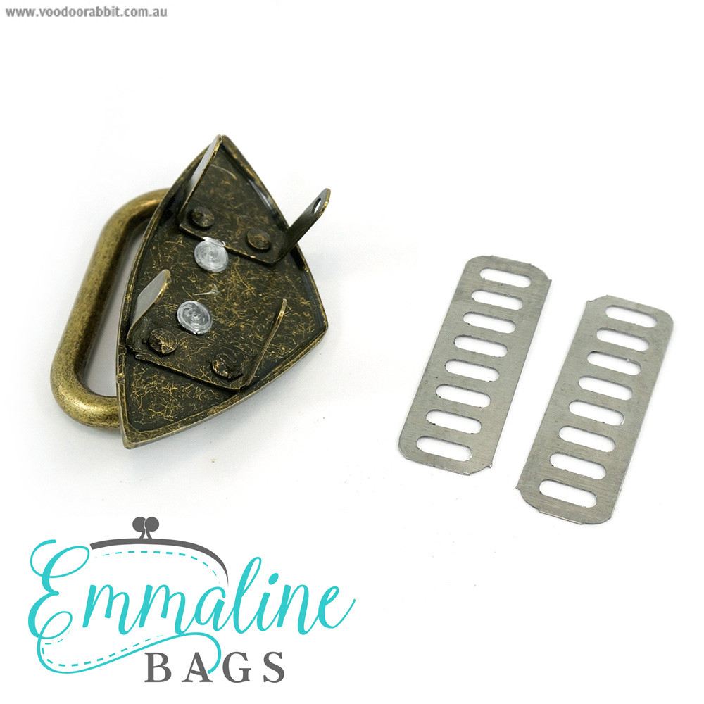 Emmaline Bags Strap Anchor Diamond Antique Brass 4 Pack